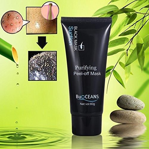 Blackhead Facial Mask Blackhead Remover Black Mask Deep Clean Mask  Premium Quality Mask Purifying Deep Cleansing Acne Resist Oily Skin Strawberry Nose Tearing style Cleansing Mask