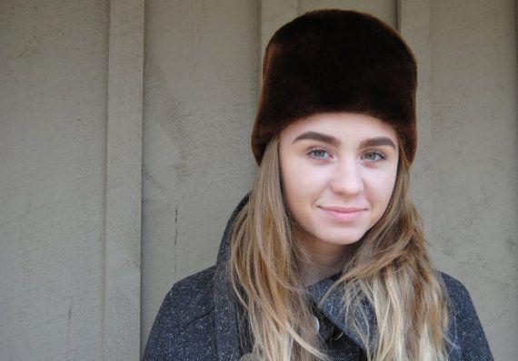 Fur Hat, Russian Winter Hat, Vintage, Real Fur in Unisex Cossack Style