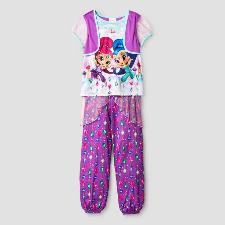 Girls' Shimmer and Shine Nightgown - Purple 4