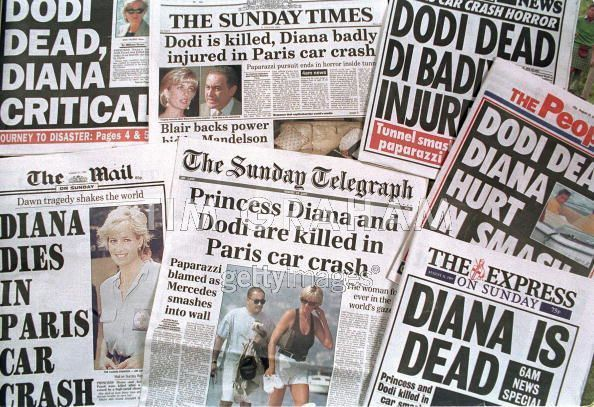 Princess Diana dies in car crash, August 1997. Diana, Princess of Wales (Diana Frances - née Spencer; July 1, 1961 – August 31, 1997), was the first wife of Charles, Prince of Wales, whom she married on July 29, 1981. She was 36-years-old when she died.