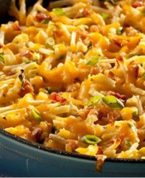 Ingredients  5 eggs 1/2 cup milk 3 cups Ore-Ida Shredded Hash Brown Potatoes 1/3 cup green onions , sliced