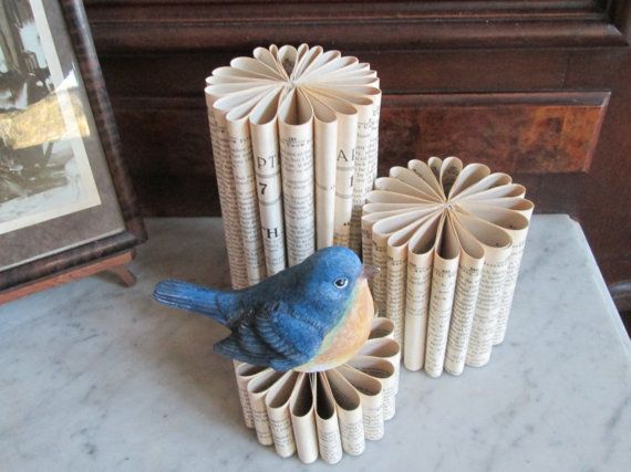 Vintage Paper Display Risers by ThePaperMoose on Etsy