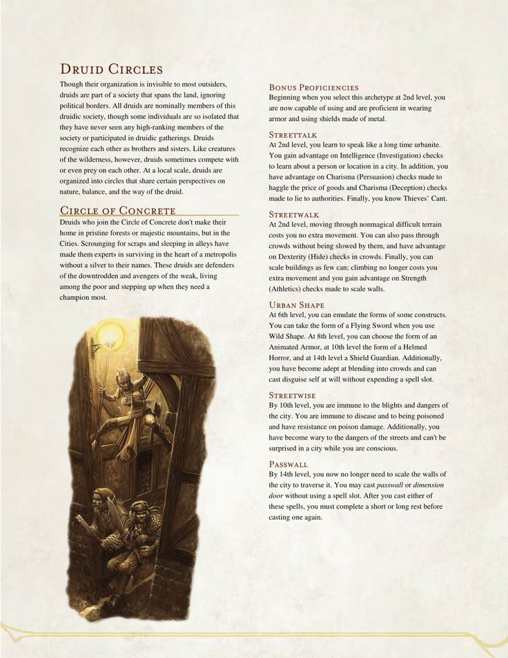 Role and History of Druids, Merlin and Sorcery