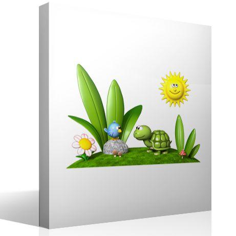 Adesivi per Bambini Turtle e Bird