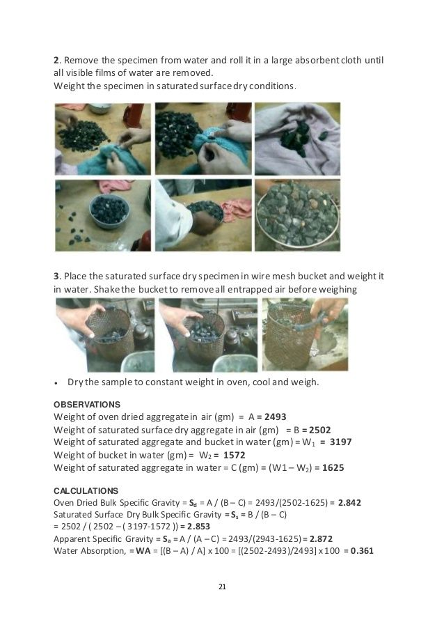 Concrete Mix Design Report Sample