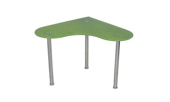 Mesa de estudio angular en un diseño moderno. Disponible en tres colores.