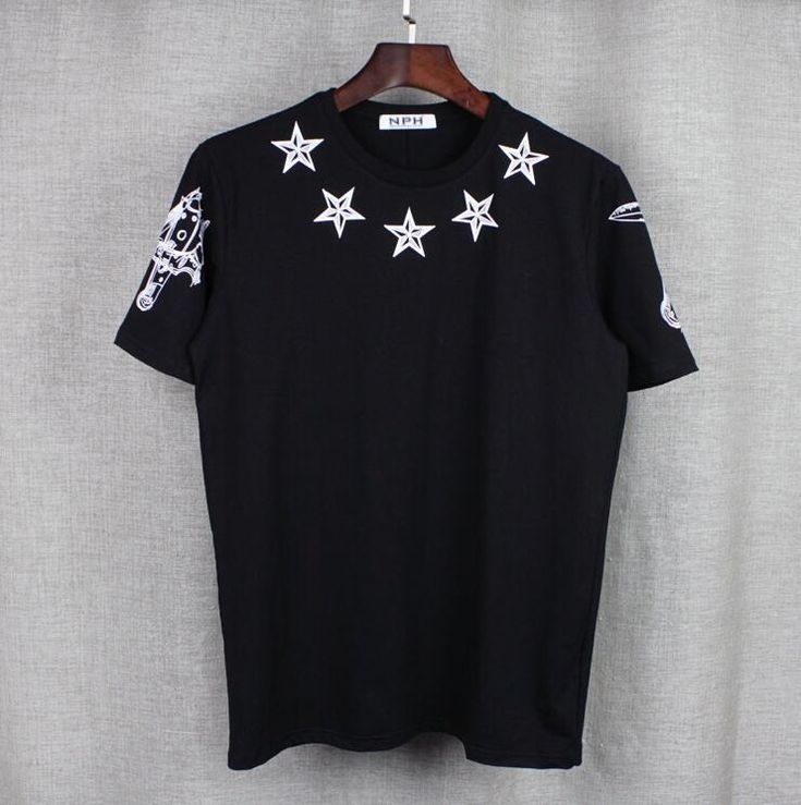 New High 2017 Men 4 7 Print Star T Shirts kanye T-Shirt Hip Hop Skateboard Street Cotton T-Shirts Tee Top Top HIp Hop#B53