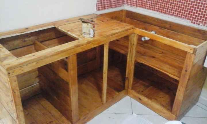 Balcao De Cooktop E Pia Para Cozinha De Pallets Diy Em 2020 Com
