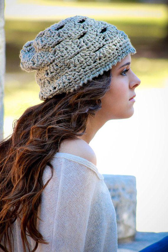 Summer Beanie Hat Crochet Pattern : Hat Pattern, Summer Slouch Beanie Crochet Pattern ...