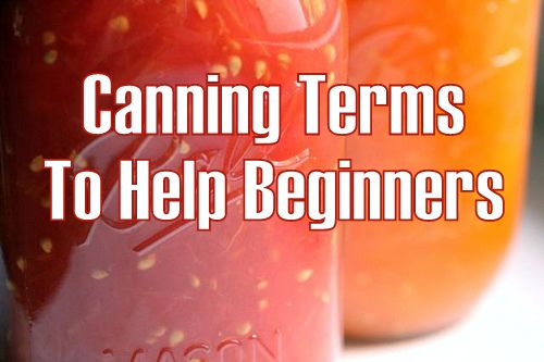 Canning Terms for the Beginner
