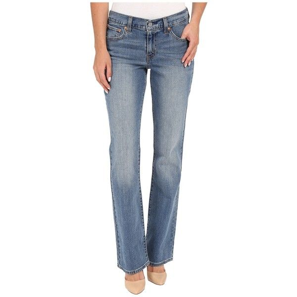 Levi's   Womens 415 Relaxed Bootcut (Road Trip) Women's Jeans ($40) ❤ liked on Polyvore featuring jeans, zipper jeans, bootcut jeans, relaxed fit jeans, relaxed fit boot cut jeans and patch jeans