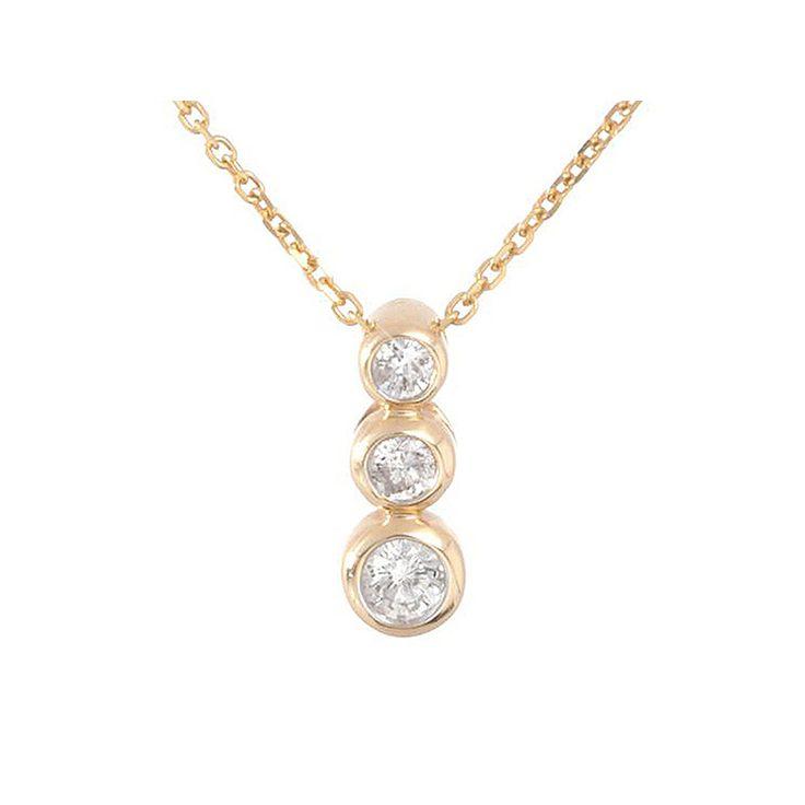"PENDENTIF ""MA TRILOGY"" DIAMANT : 0,25CT/3 #lediamantaire #collier #luxe"