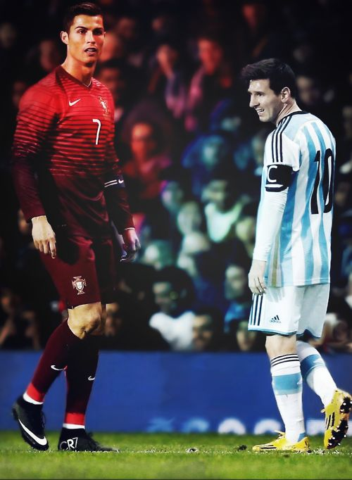 """""Hell and Heaven"""""" messi, lionel messi, fc barcelona, barcelona, barca, cristiano ronaldo, cr7, argentina, portugal, soccer, football, futbol, respect."