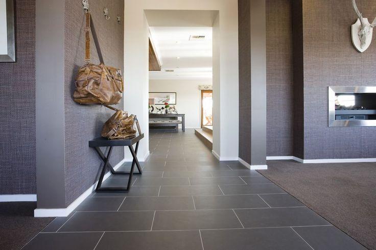 Floor Tile  STRATOS NERO NATURAL (300x600)  MAXFL1037   Grout: Light Grey