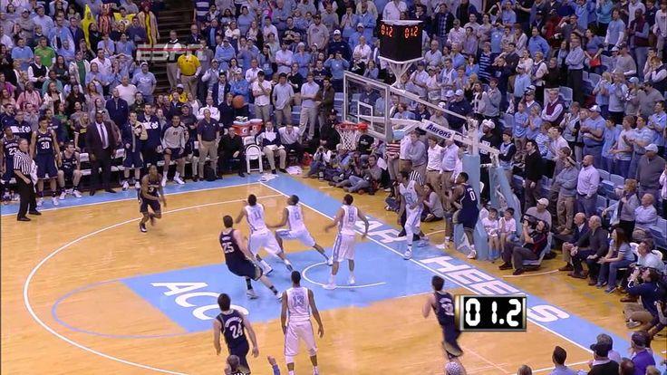 UNC Men's Basketball: Marcus Paige's Game-saving Block vs. Notre Dame - YouTube