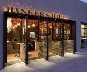 Bankers Hill   The overall aesthetic of the space is a warm and rustic, industrial type space.
