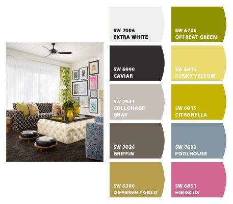 Sherwin Williams Citronella Funky Yellow Collonade Gray For The Home Pinterest