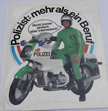 Aufkleber POLIZEI Motorrad-Streife BMW R100 mehr als ein Beruf 80er Sticker