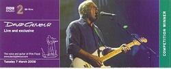 cd's ;  David Gilmour  en concert