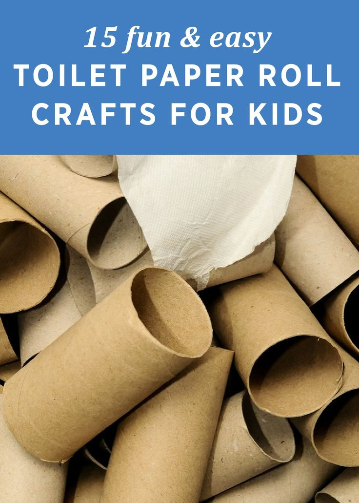 Save up those toilet paper rolls and make these 15 Fun and Easy Crafts with your kids!