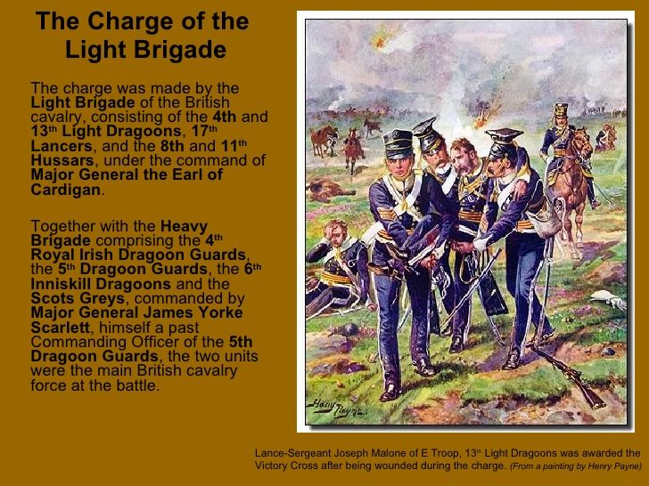 essay on the charge of the light brigade poem