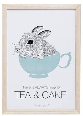 Bloomingville Tavla Tea & Cake 25x35, Natur