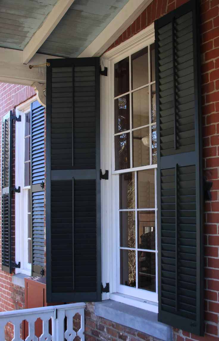 1000 images about exterior shutter ideas on pinterest entry ways exterior colors and for Exterior louvered window shutters