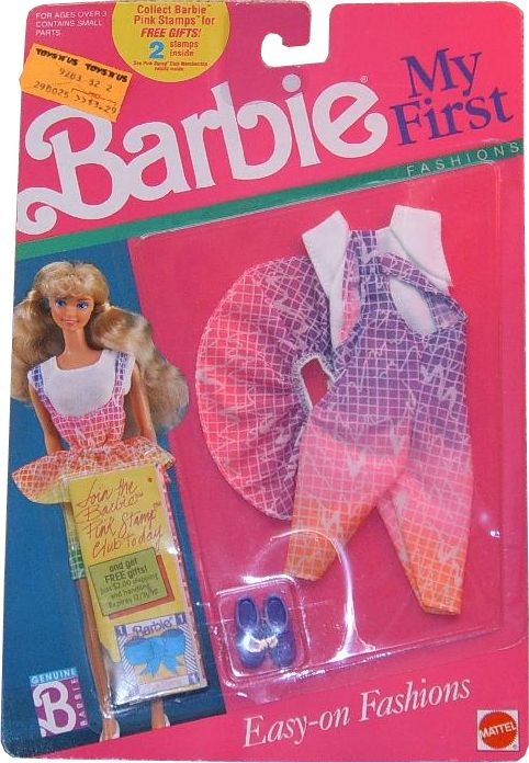 1989 My First Easy On Fashions Barbie Outfit 2 9272 Asst 9283 Barbie Barbie Clothes Barbie Fashion