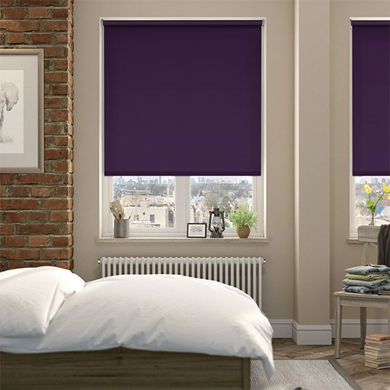 Cordoba Purple Blackout Roller Blind from Blinds 2go