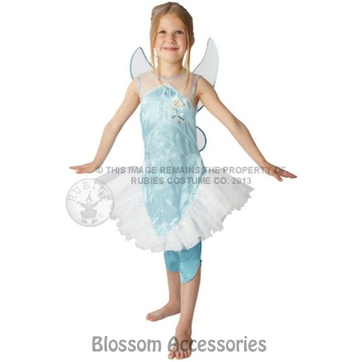 CK350 Periwinkle Disney Princess Costume Fairy Tinkerbell Fancy Dress + Wings #Disney #Dress #FancyDressCostume