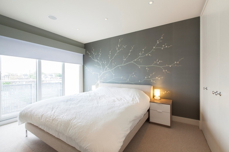 Neutral walls with white furniture