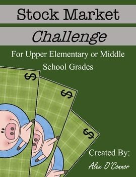 The Stock Market Challenge is a multiple day challenge for upper elementary or middle school students. The activity is intended to give students a basic understanding of how the stock market works. Students research and purchase stock in a company and then track their gains or losses!