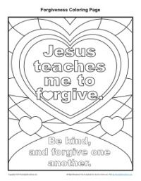 Jesus Teaches Me to Forgive Coloring Page
