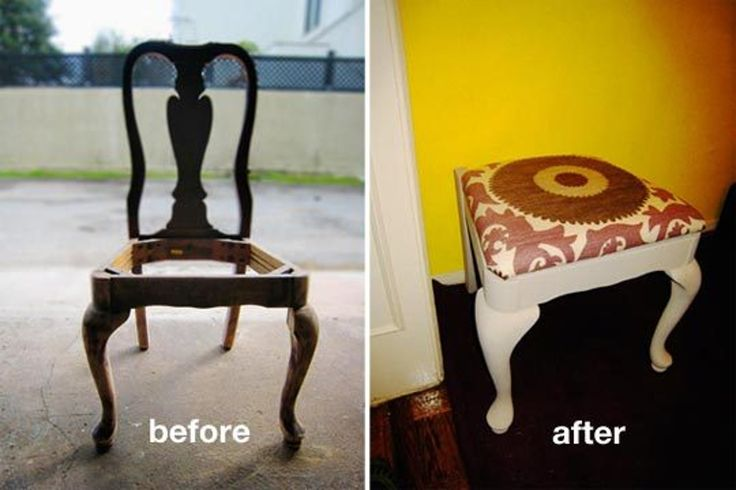 Converting a Queen Anne Chair Into a Stool