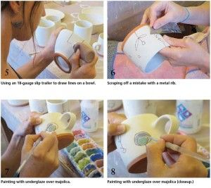 Less is More: Using Simple Pottery Forms as a Canvas for Playful Underglaze and Majolica Decoration