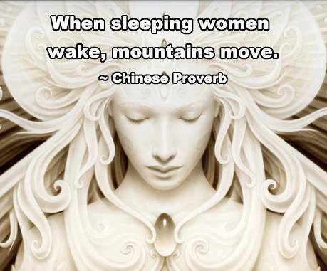 awaken, sisters, we have more mountains to move