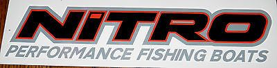 Nitro #performance #fishing #boats decal black/red, View more on the LINK: http://www.zeppy.io/product/gb/2/201541249967/