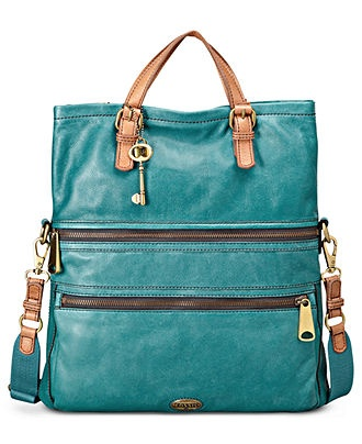 WANT!!!!!!!!!!! Fossil Handbag, Explorer Leather Tote - Fossil - Handbags  Accessories - Macy's
