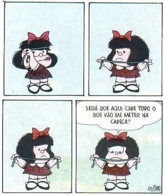Tirinha da Mafalda, de Quino.