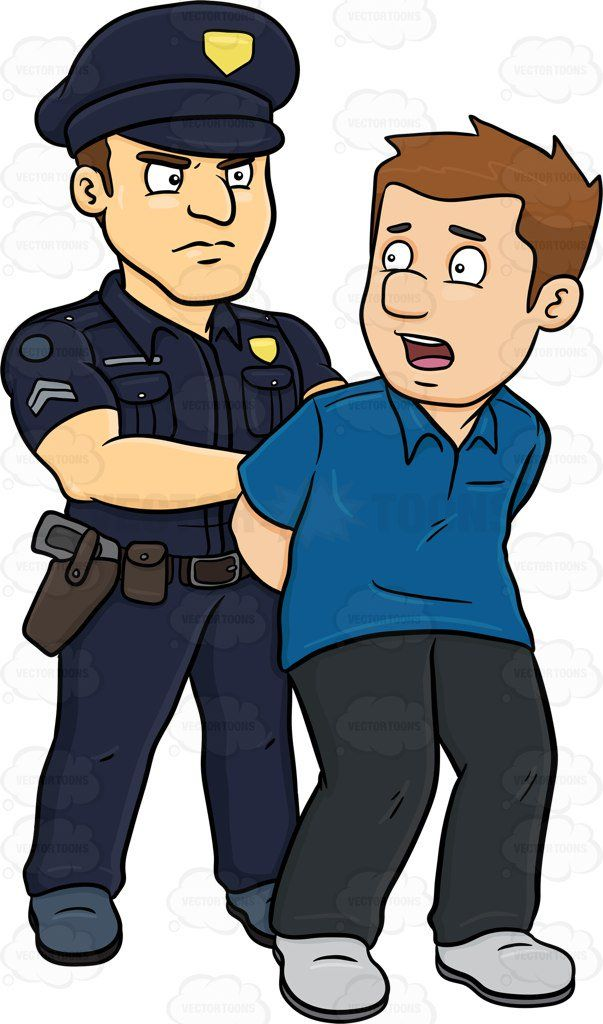 eb130841eb1b8b Arrest Clip Art | A Policeman Arresting A Man Vector Clip Art Cartoon