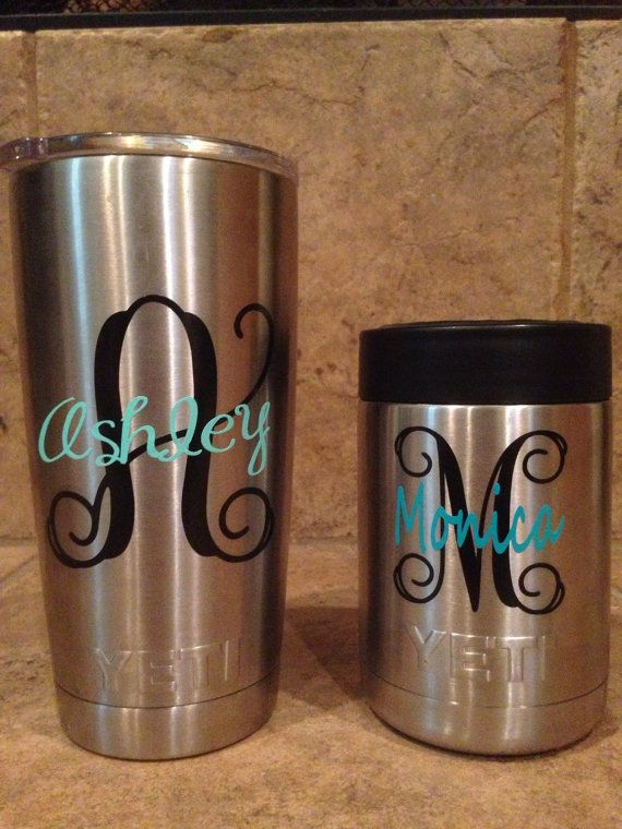 Yeti rambler decal only yeti personalized decal yeti initial and name decal yeti colser decal custom yeti cup decal decal only