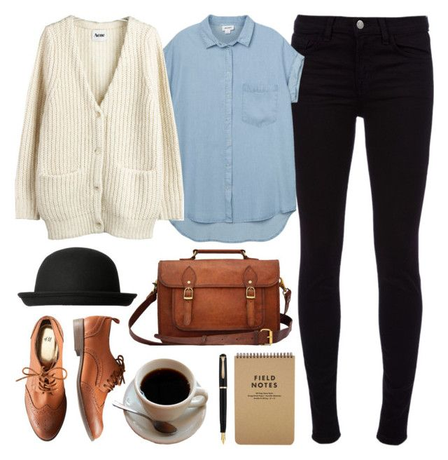 """""""Untitled"""" by hanaglatison ❤ liked on Polyvore featuring H&M, J Brand, Monki and Acne Studios"""