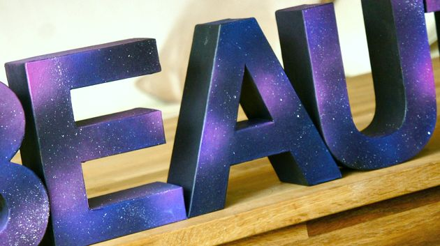 DIY Galaxy Letters (  video!)