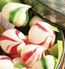 Peppermint Kisses - melt in your mouth candy perfection. Serve with dessert or make as a holiday gift.