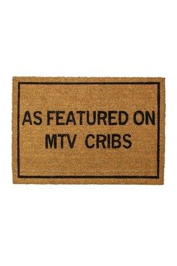 As Featured On MTV Cribs Brown Coir Doormat