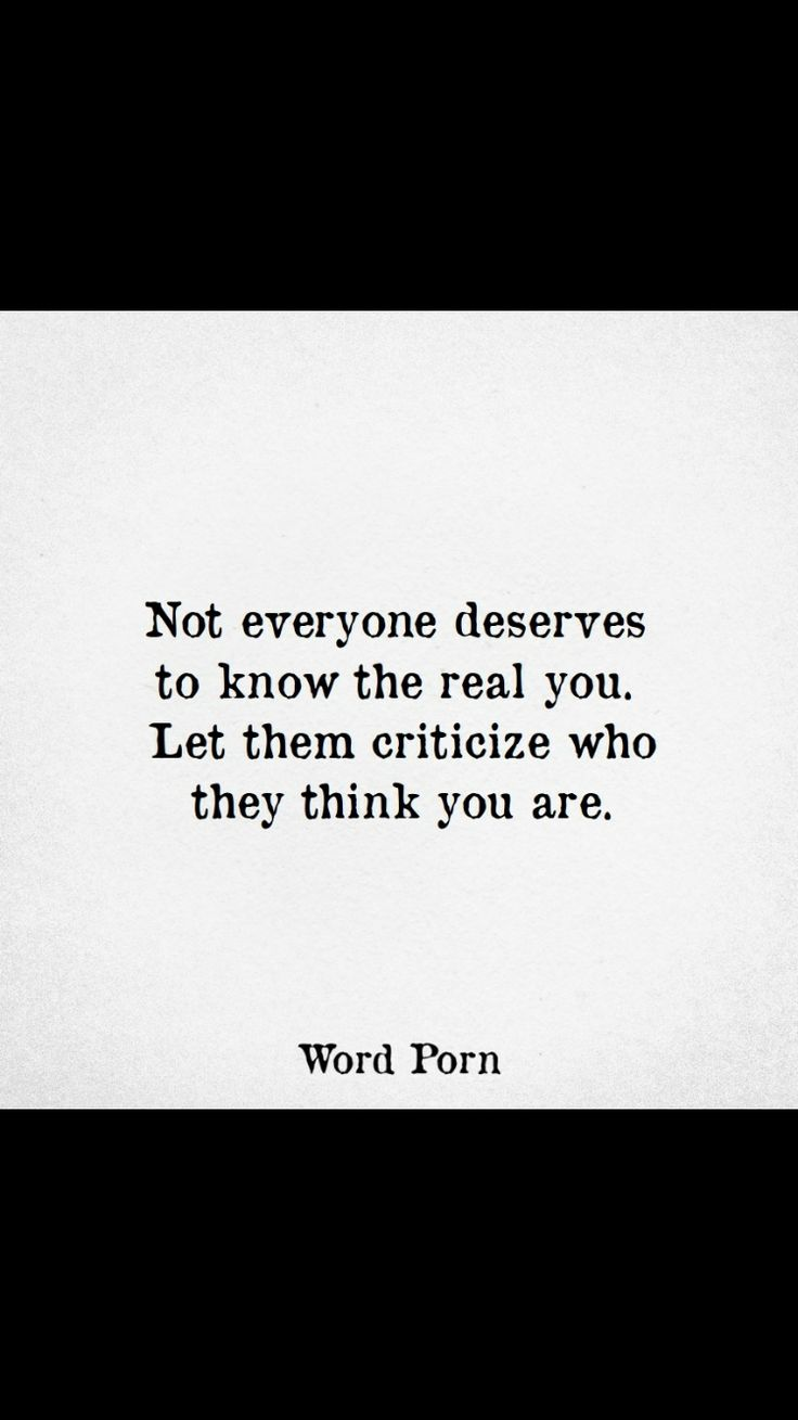 Not everyone is deserving