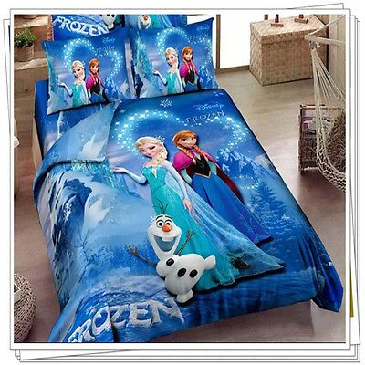 Girls Kids Disney Frozen Princess Bedding Duvet Comforter