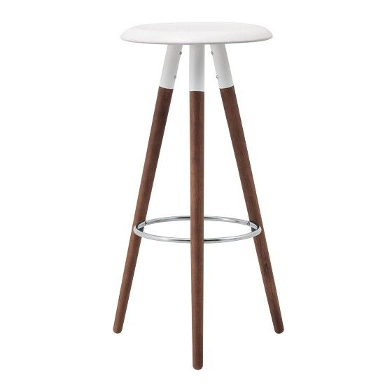 3) Choose the architectural shapes  This style starts with organic and architectural forms - furniture is charcterised by tapered legs and curves.  Wood, splayed legs, sculptural shape - this ticks all the boxes.  Vig bar stool, £179, BoConcept
