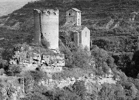 castillo de la mora- puente montañana - huesca - españa