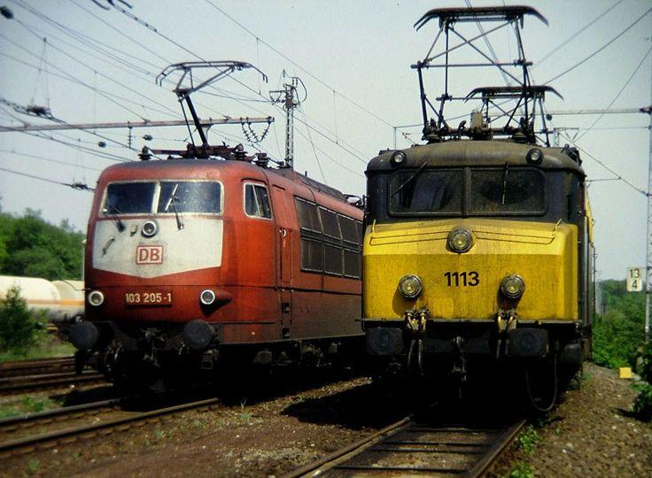 nederlandse treinen - Loc 1113 me de DB